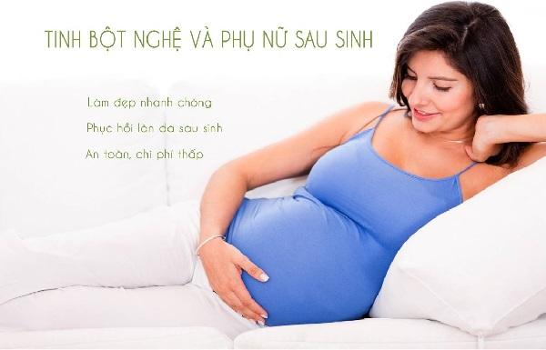 Tinh bột nghệ rất tốt cho phụ nữ sau sinh