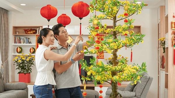 Màu vàng của hoa mai tượng trưng cho sự thịnh vượng, phát triển